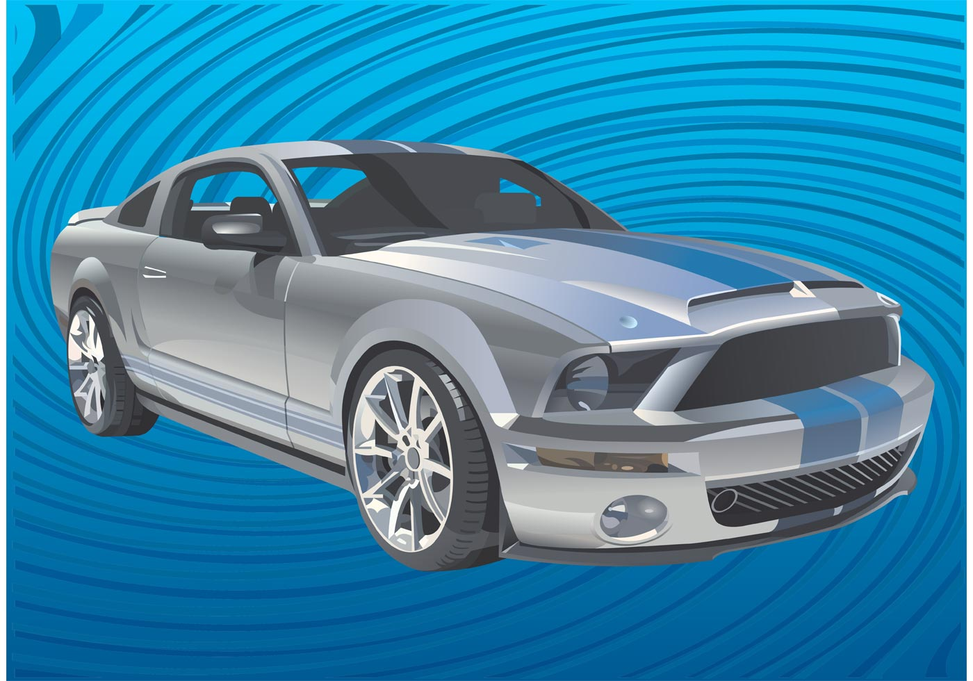 mustang car vector download free vector art stock graphics images. Black Bedroom Furniture Sets. Home Design Ideas