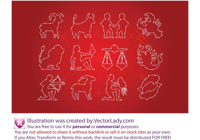 Free Horoscope Signs Vectors