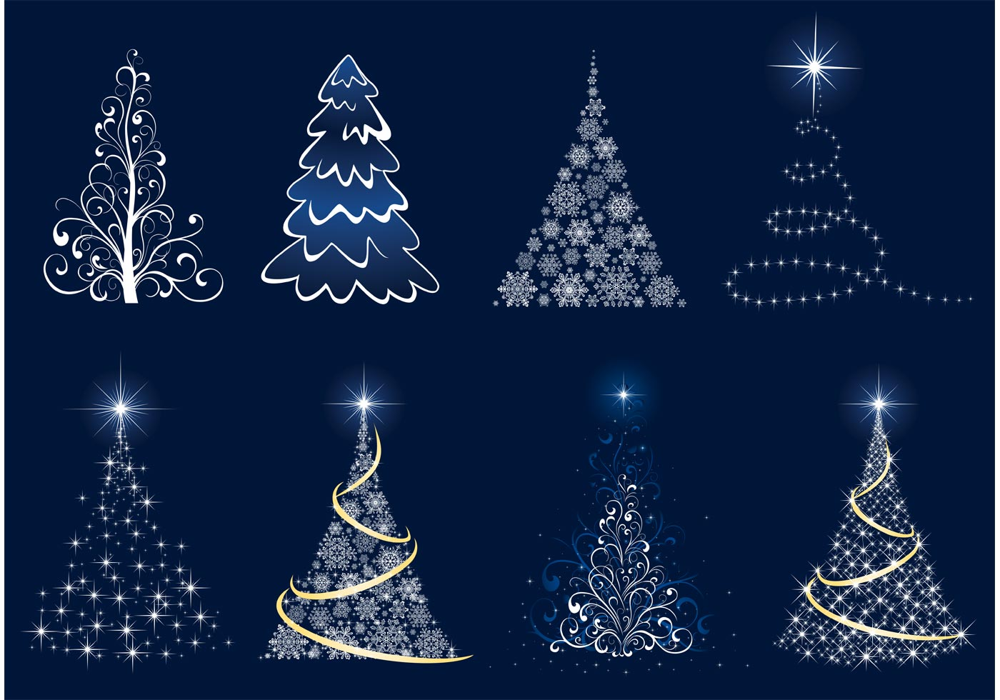 Download Free Vector Art Stock: Christmas Tree Vector Graphics