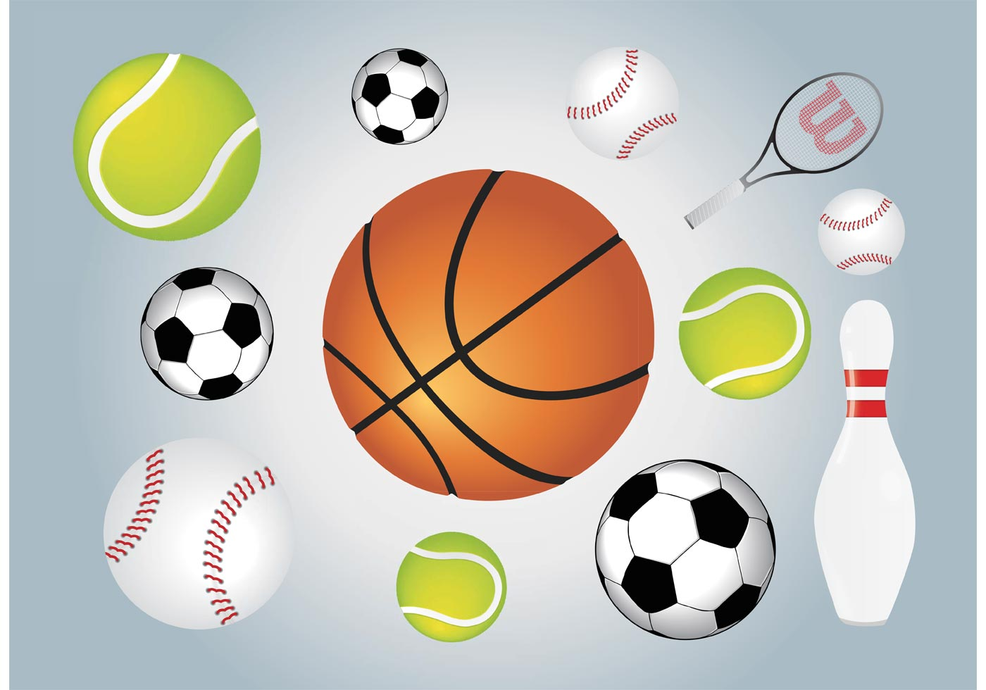 sports vector ball graphics