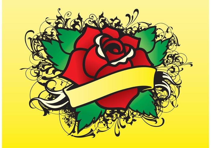 Rose Tattoo Vector