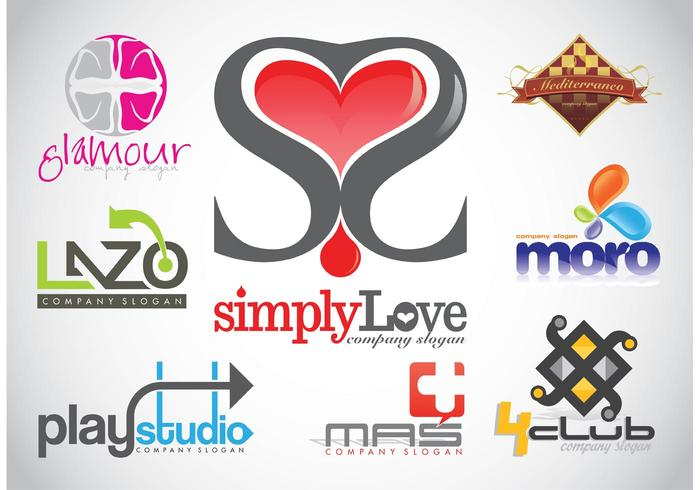 Logo Design Vector Footage