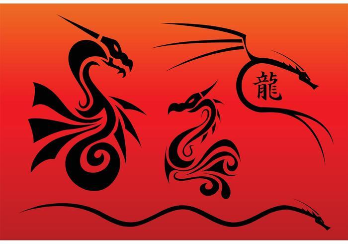 Chinese Dragons Vectors