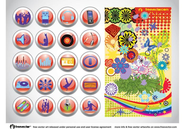 Vector Design Buttons Graphics