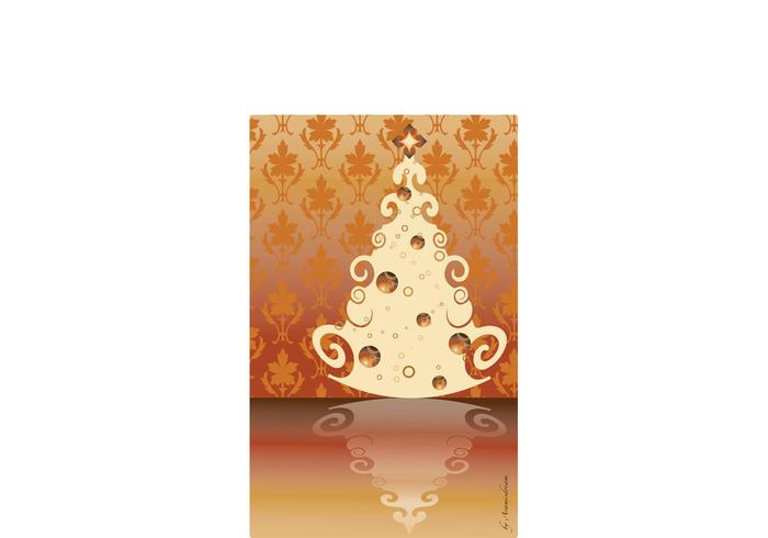 Vintage Christmas Tree Vector