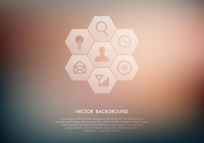 Transparent Icons on Blurred Background Vector Set