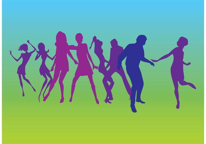 Dancers Silhouettes Vectors