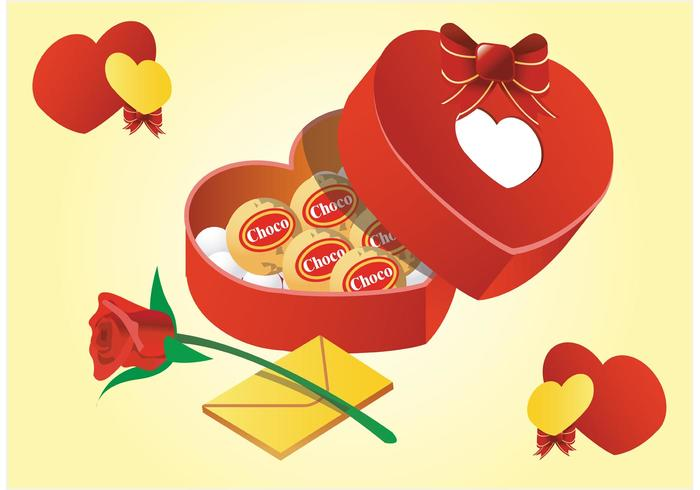 Valentine Gifts Vector
