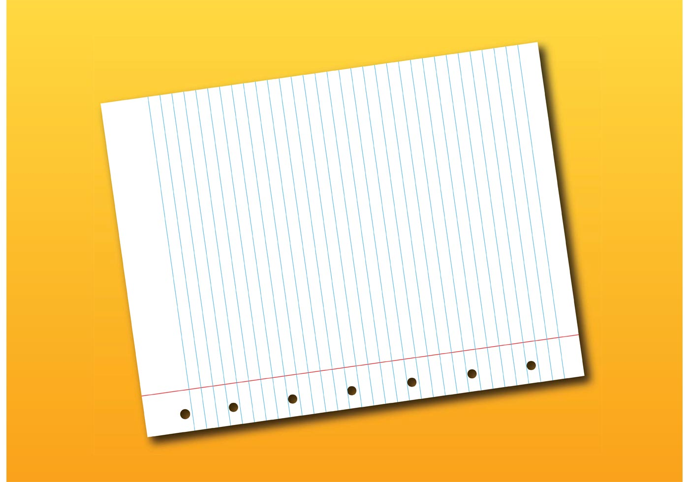 notebook page vector