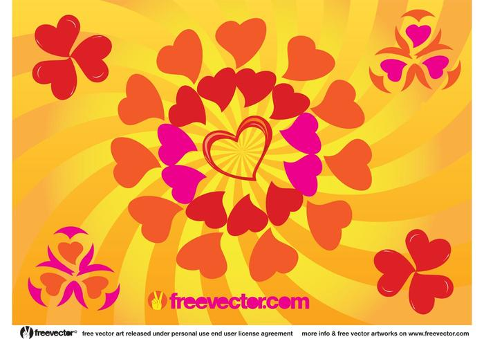 Sunny Heart Vector Graphics