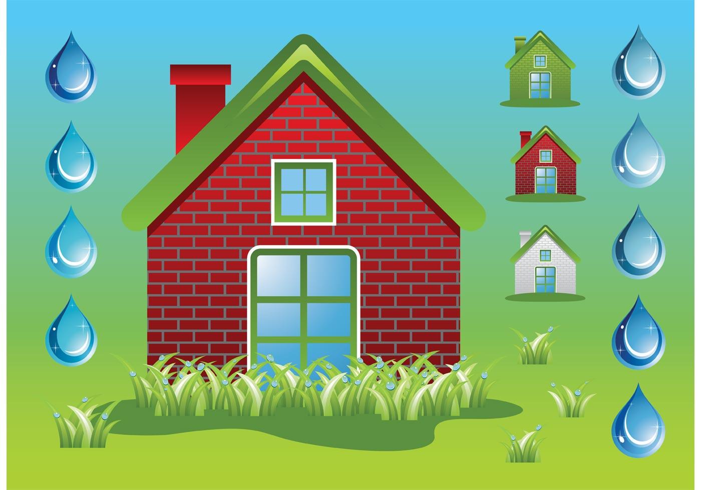 Green Home Ecology Vectors Download Free Vector Art