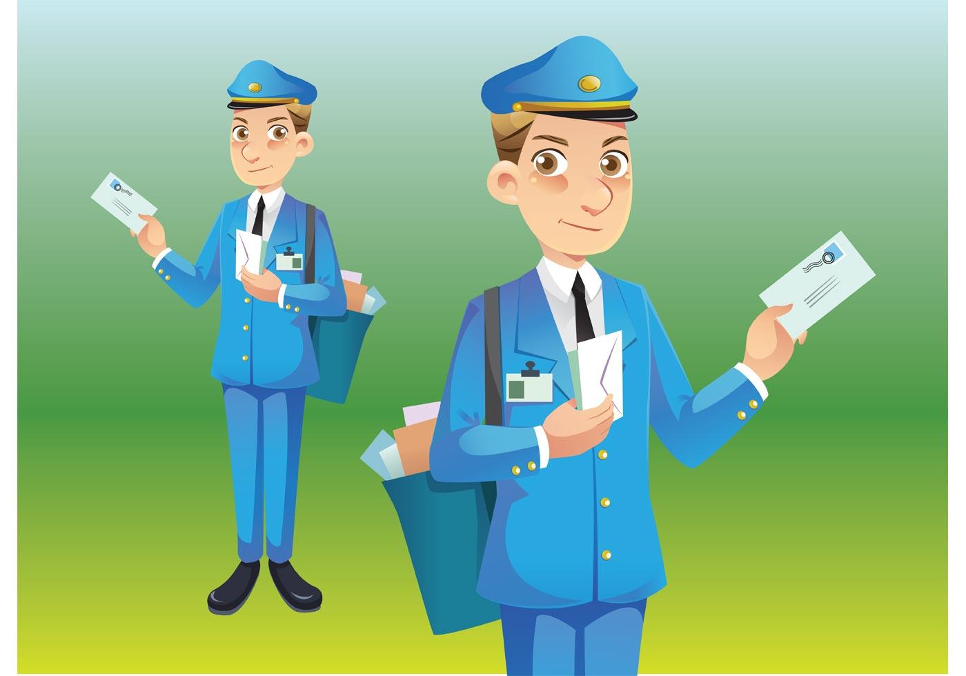 Postman Vector Download Free Vector Art Stock Graphics