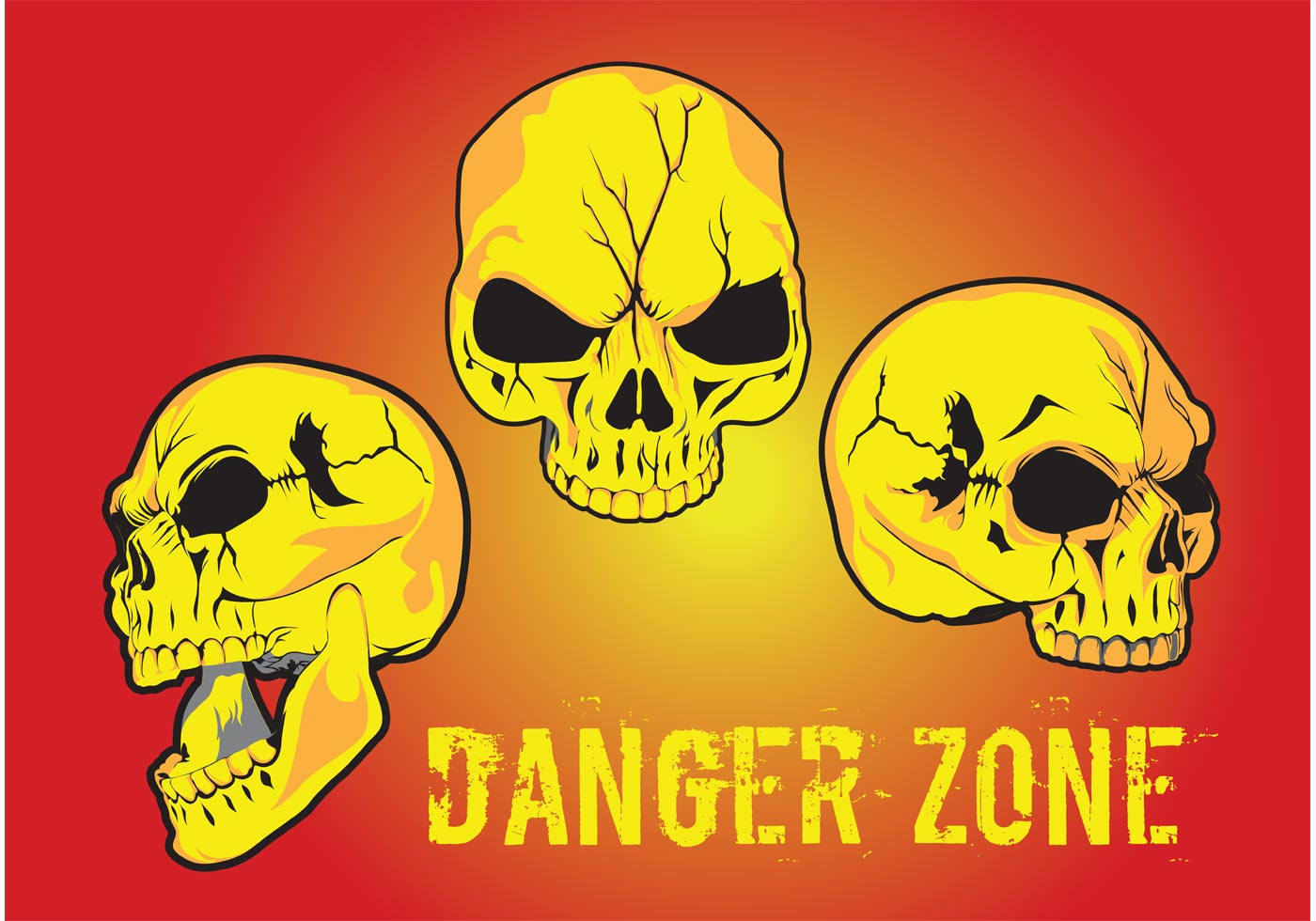 danger zone vector download free vector art stock