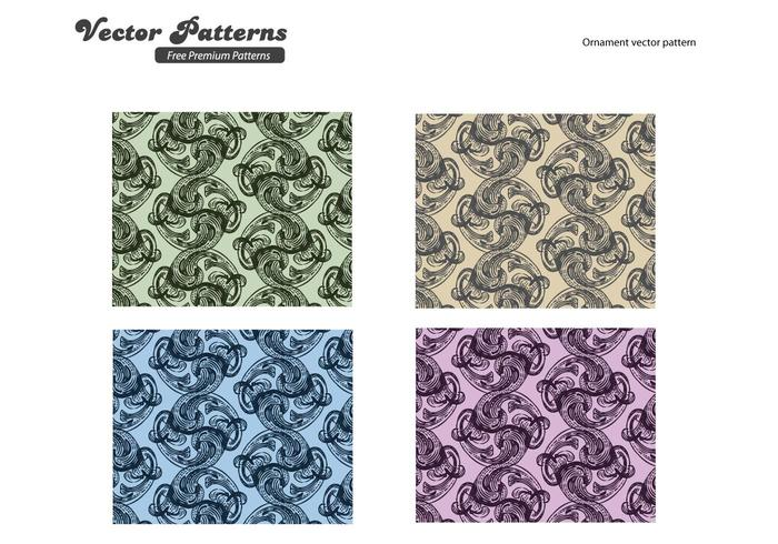 Ornaments Pattern Vector Graphics