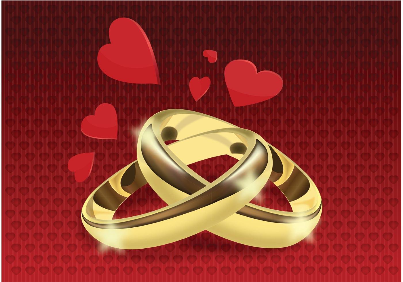 Wedding Rings Vector - Download Free Vector Art, Stock ...