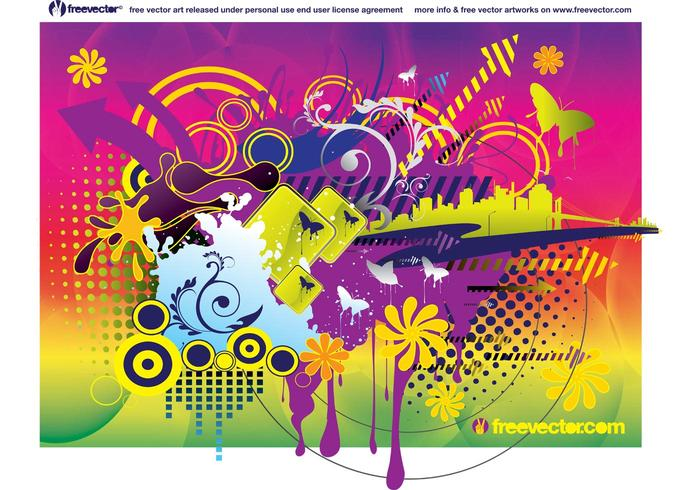 Colorful Summer Vector