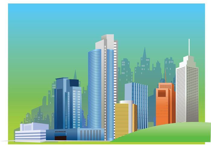City Skyline Vector Graphics