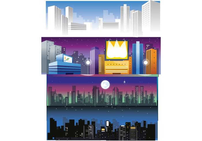 Free City Skyline Vectors