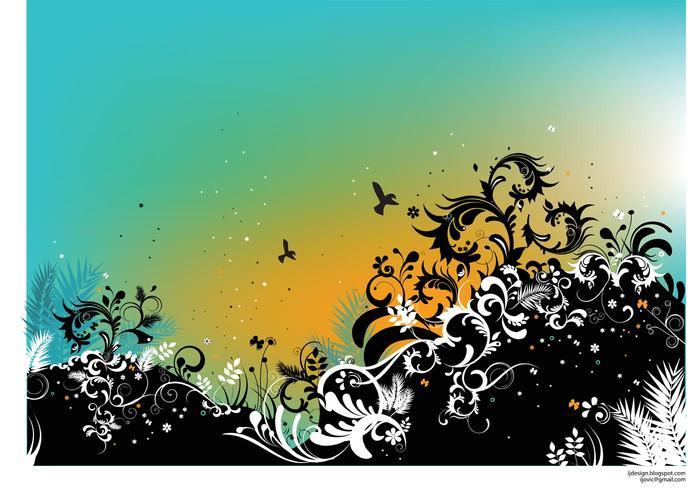 Summer Nature Vector Illustration