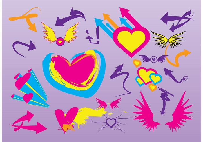 Love Wings Vectors