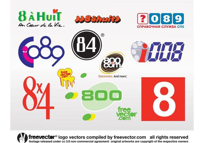 Oito logotipos