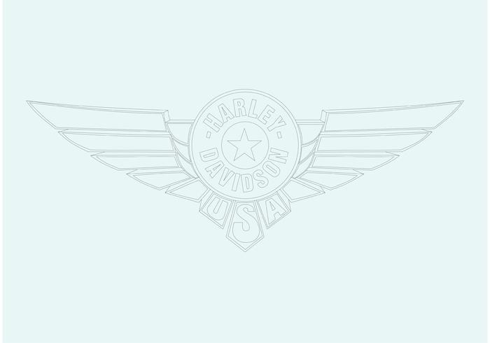 Harley Davidson Disc Logo vektor