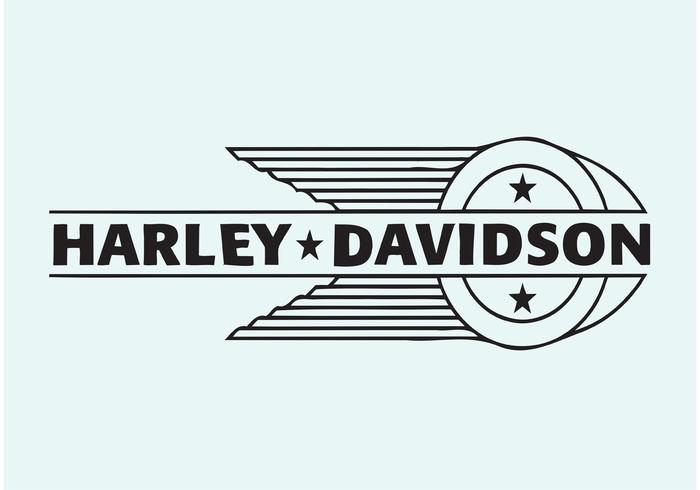 harley davidson vector logo download free vector art Black and White Harley-Davidson Logo Black and White Harley-Davidson Logo