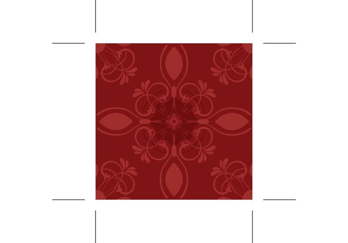 Red Flower Vector Pattern