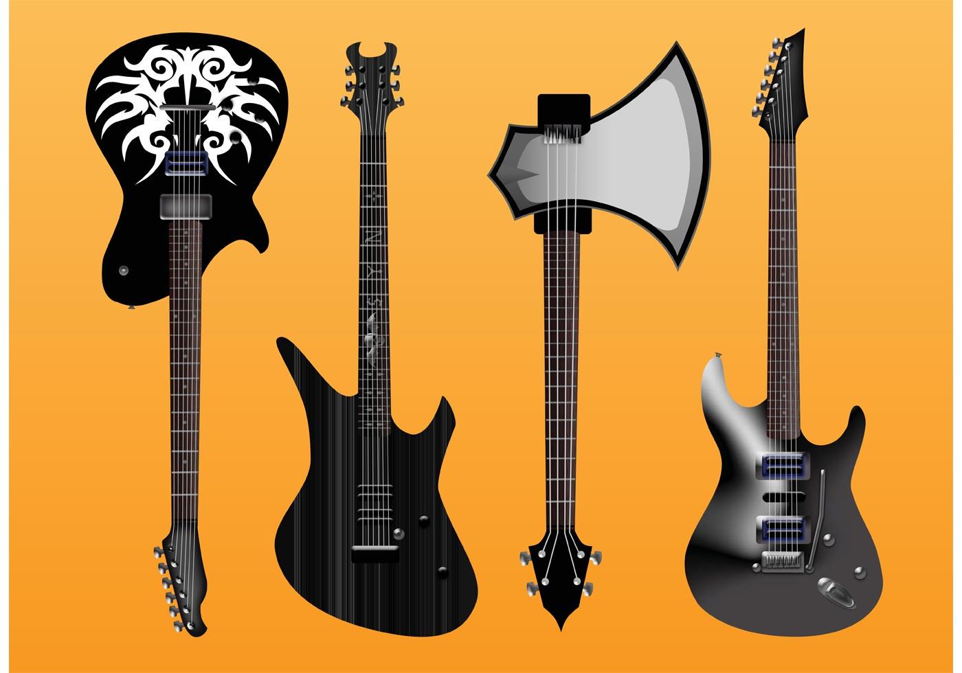 electric guitars vector freebies download free vector art stock graphics images. Black Bedroom Furniture Sets. Home Design Ideas