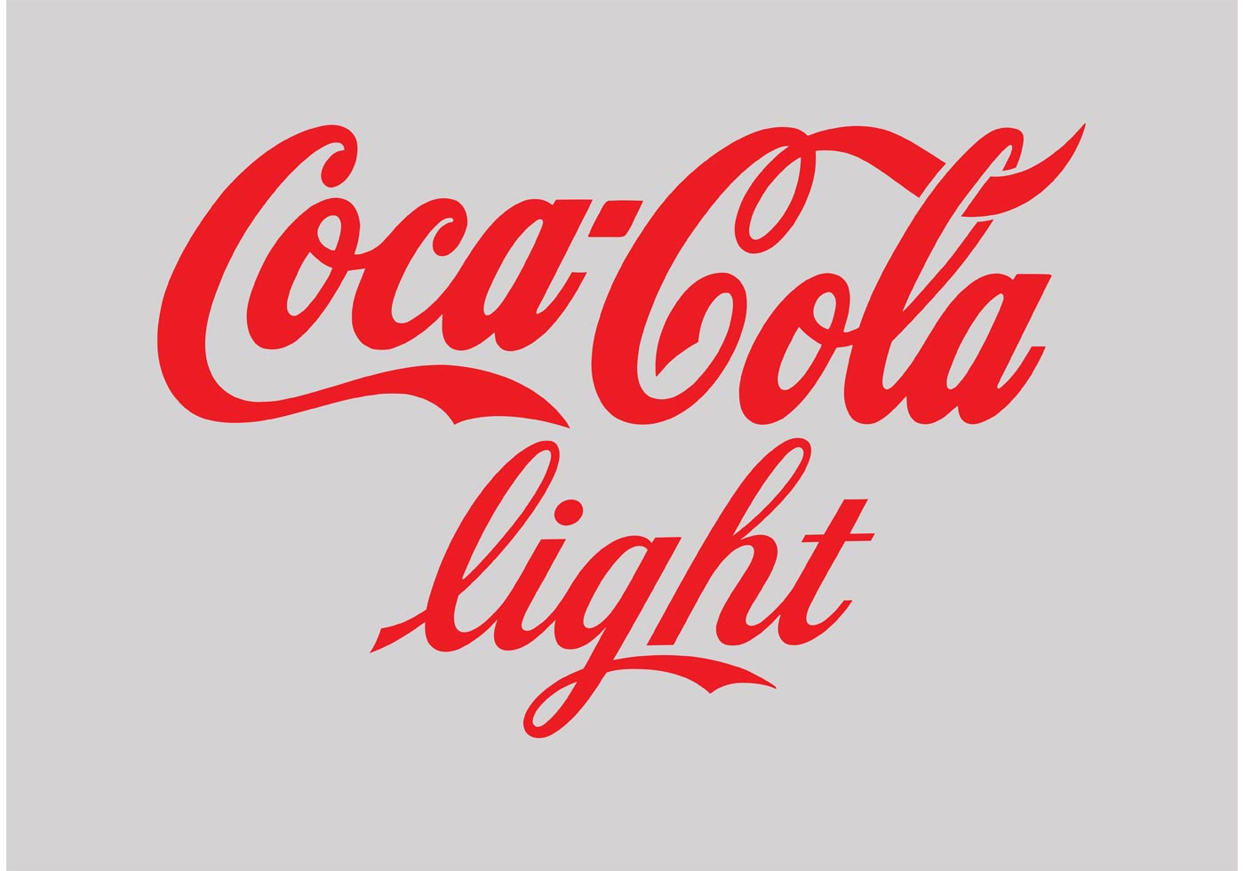 cocacola light logo download free vector art stock