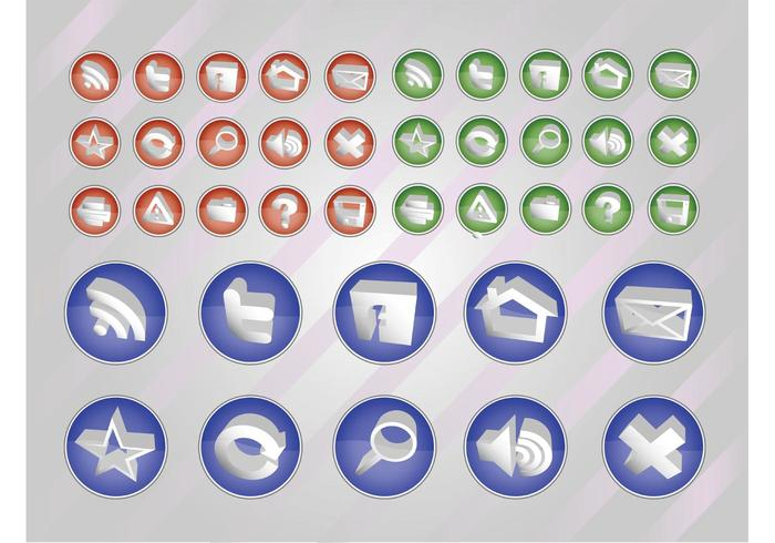 Web Vectors Button Pack