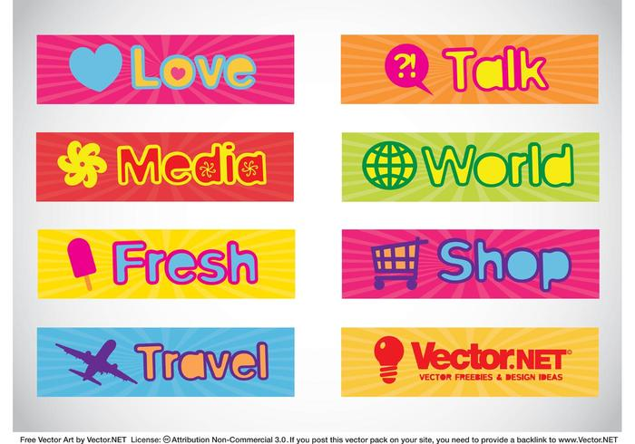 Text Banners Vectors