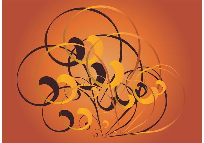 Retro Swirls Vector