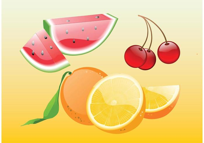 Realistic Fruit Vectors