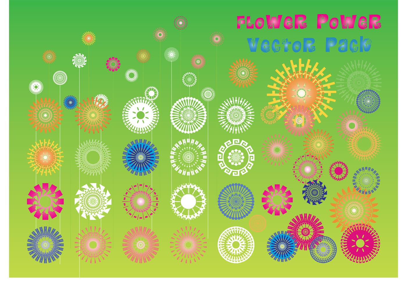 Flower power vector download free vector art stock for Clipart to download for free