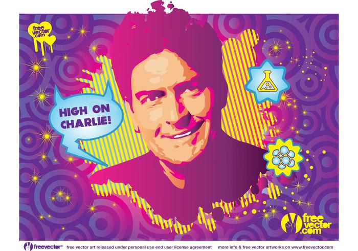 Charlie Sheen drogas vectorial