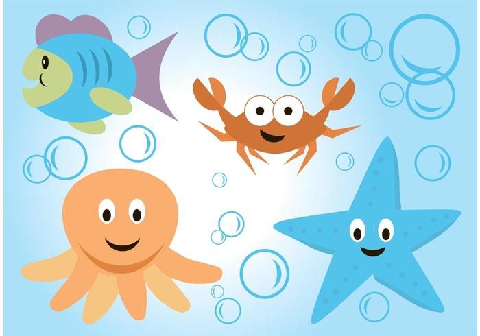 Sea Life Vektor Cartoons
