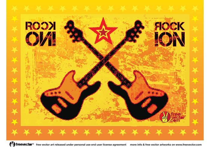 Rock Guitars Vector