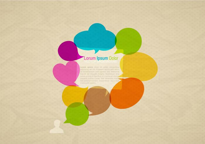Colorful Speech Bubbles Vector de fondo