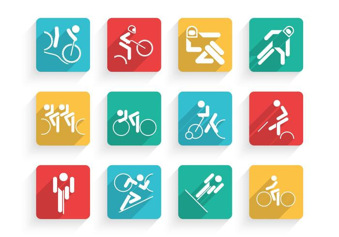 Fiets Pictogrammen Vector Set