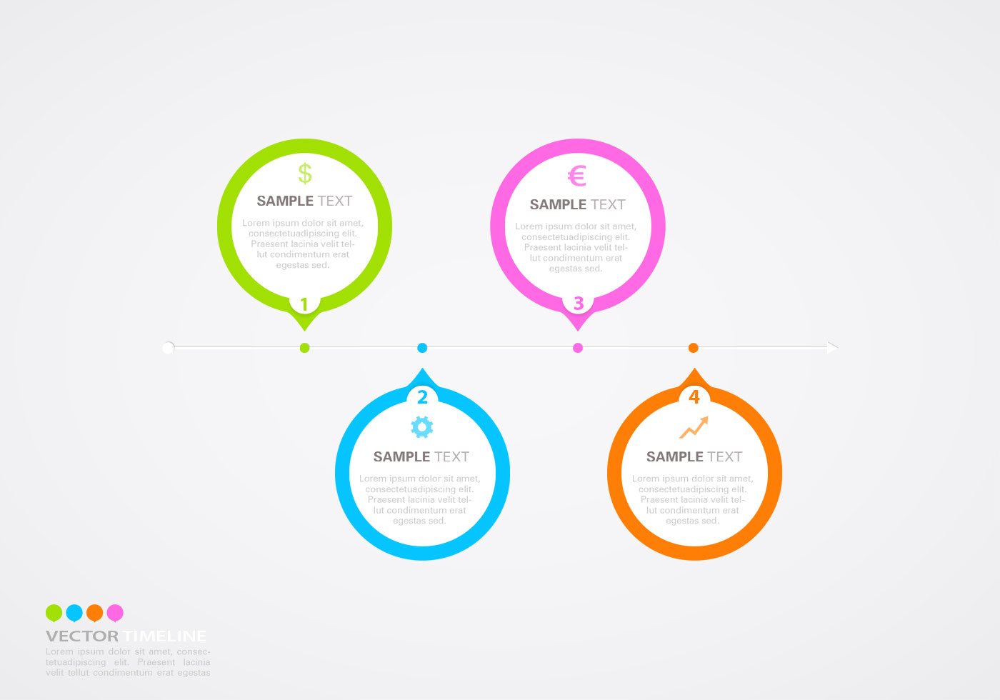 Horizontal Timeline Infographic Vector Template - Download ...