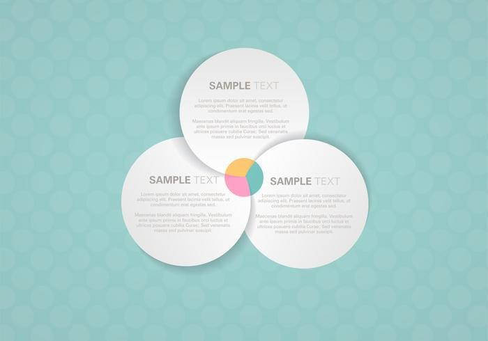 Venn Diagram Background Vector