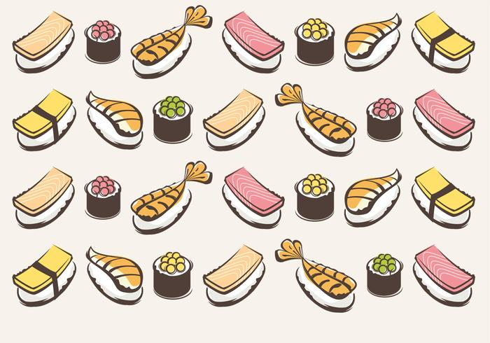 Sushi Vector Pattern