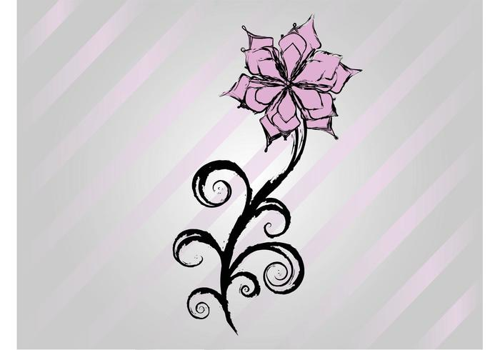 Free Flower Vector Drawing