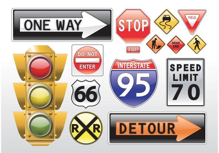 Road Signs Vectors