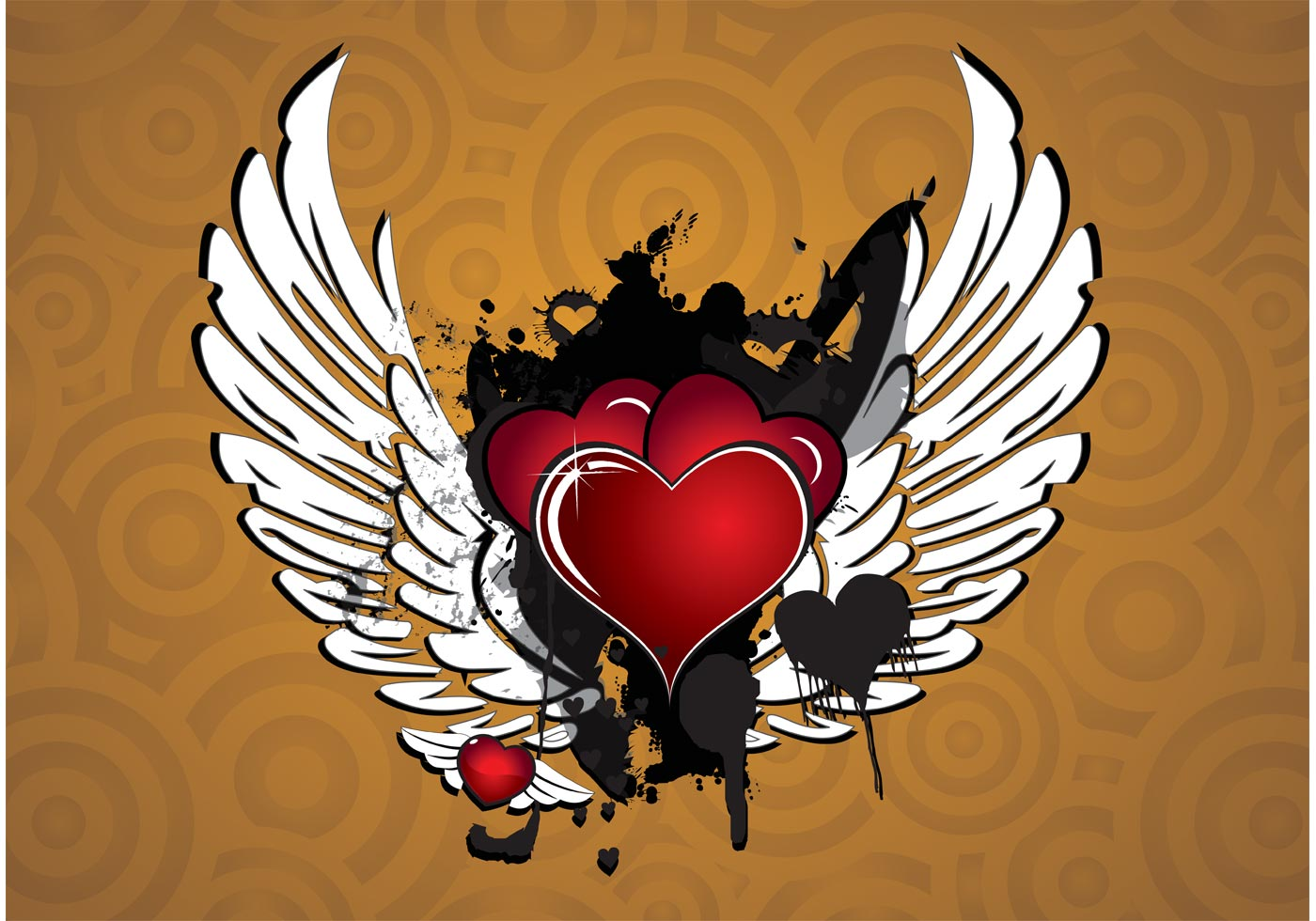 winged heart vector download free vector art stock graphics images. Black Bedroom Furniture Sets. Home Design Ideas