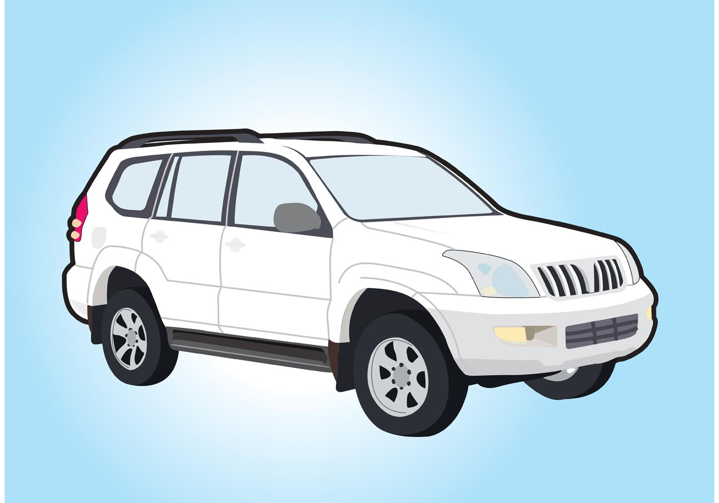 Toyota Land Cruiser Vector - Download Free Vector Art ...