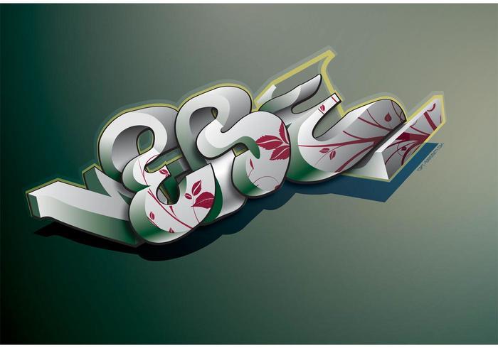 3D Graffiti Vector