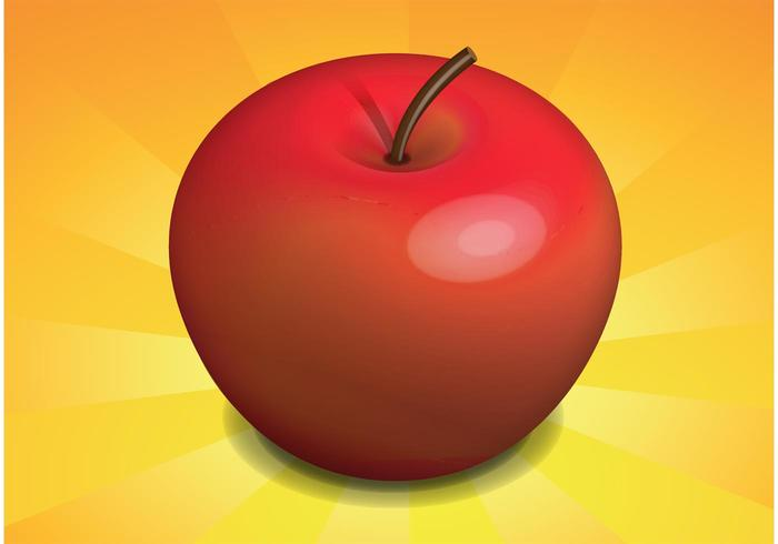 Free Realistic Apple Vector
