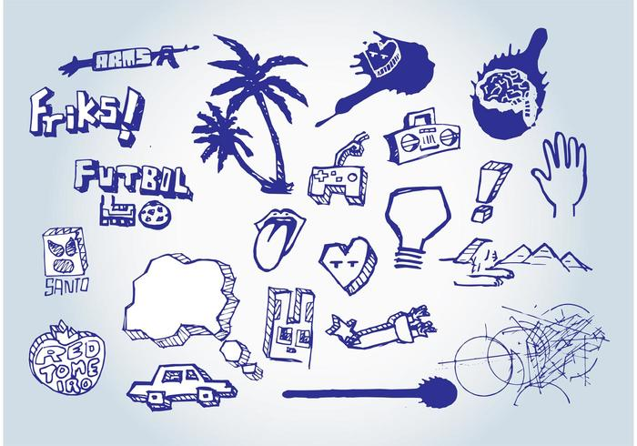 Free Doodles Vectors